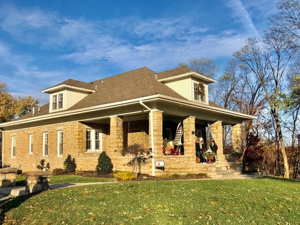 Lovely homes in the fall in Downtown Liberty 2018