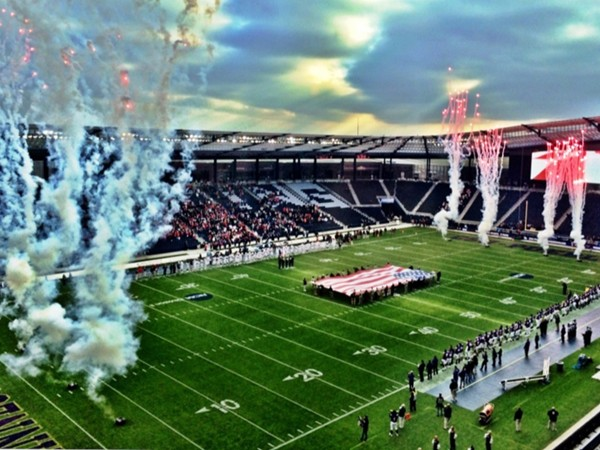 Sporting Park hosted the 2014 collegiate DII football national championship game