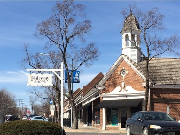 Charming Fairway shops, Shawnee Mission Parkway & Belinder Road
