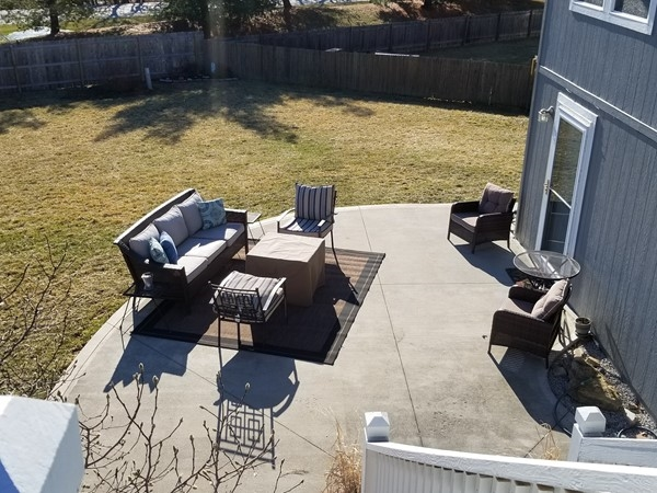 Setting up for spring time at Ward Park Place, in Raymore, Missouri