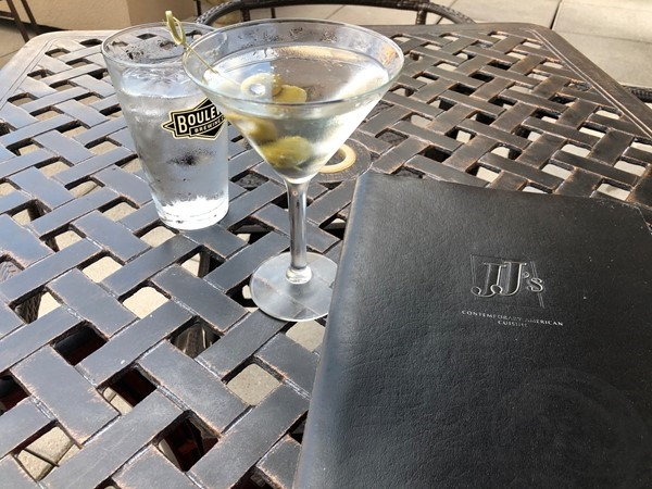 Love JJ's Happy Hour...what a great night for it and perfect 80 degree weather!  Martini anyone?