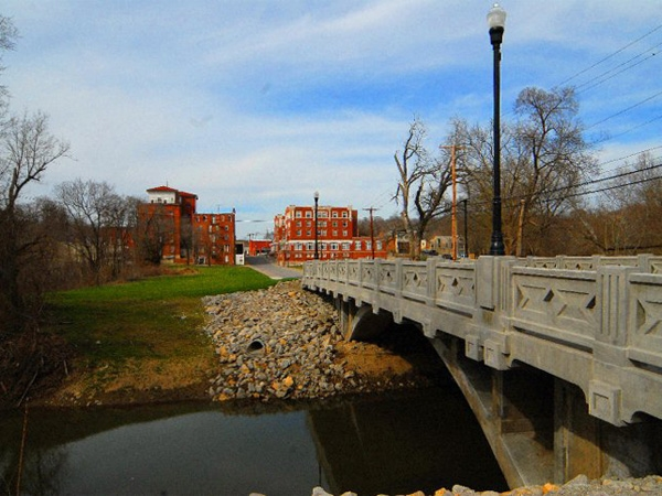 Newly restored Downtown Bridge