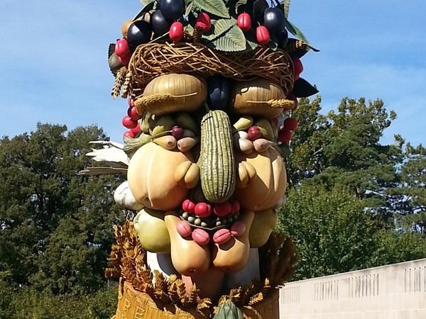 Philip Haas sculpture of Arcimboldo's Summer