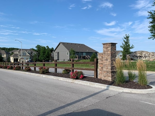 Entrance to Carriage Hills North in Kansas City, Missouri