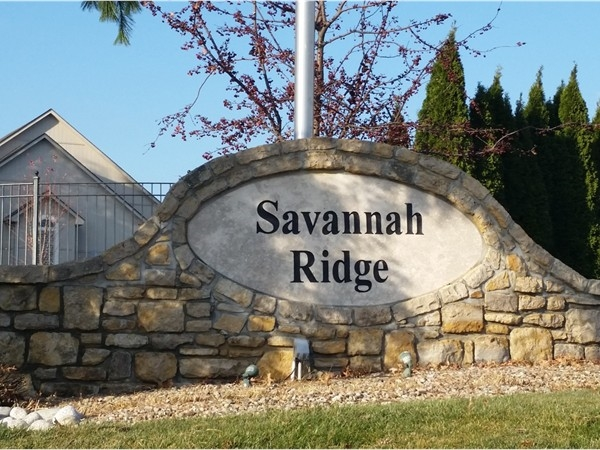 Entry to Savannah Ridge Subdivision