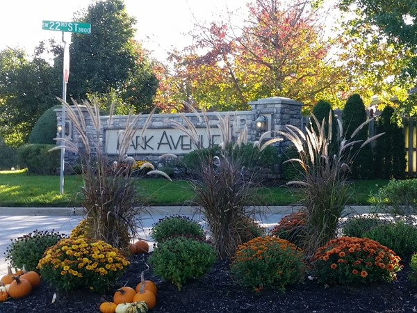 Beautiful fall entrance to this upscale subdivision
