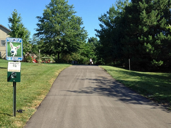Fairway Woods residents have easy access to the Indian Creek walking/biking trail.