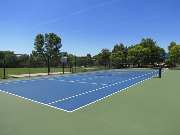 Gorgeous tennis court in Haven Park, which is near the Havencroft Neighborhood