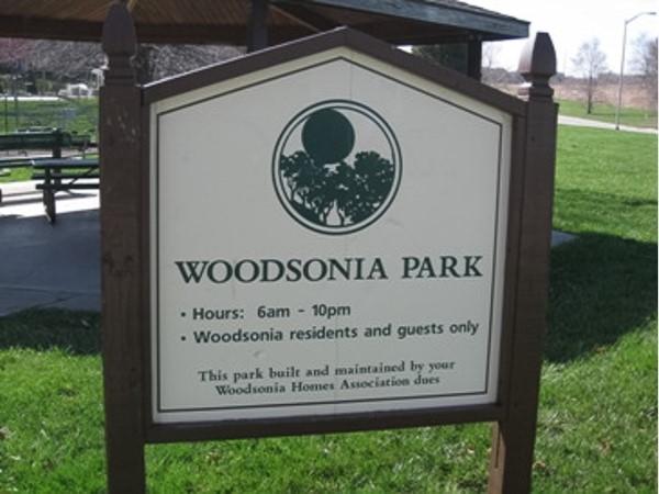 Woodsonia Park in Shawnee KS