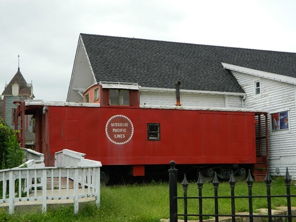 Although this one is not in use, trains still run through town