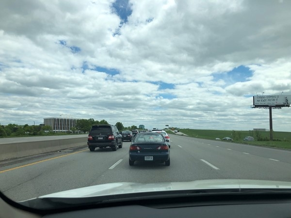 Icky traffic coming back from Platte City to KC.  That never happens