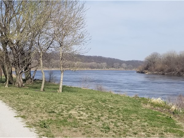 Platte Landing has spectacular views of the mighty Missouri River