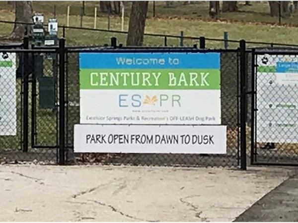 Century Bark Park has double gated entrance for safety