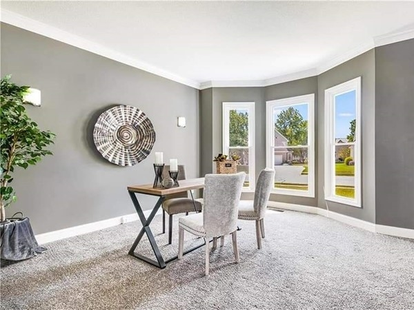 A beautifully staged area at Lakewood Subdivision. By Staging Dreams