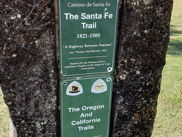 The Santa Fe Trail was established in 1822. It ran 869 miles