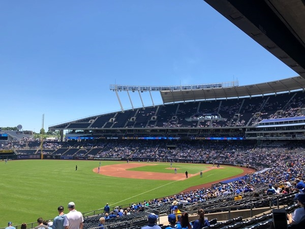 Let's go Royals! What a beautiful day to catch a game at Kauffman Stadium