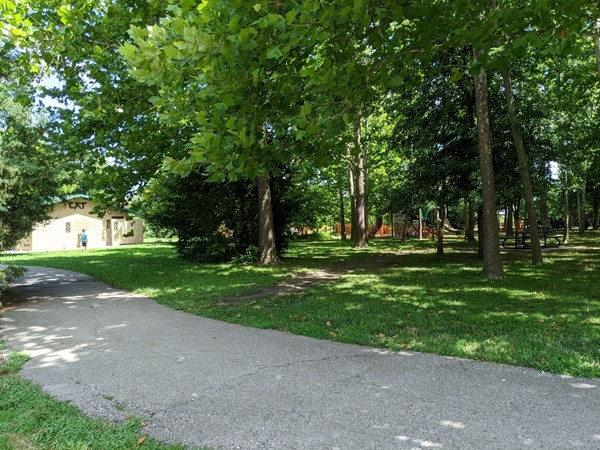 Waterfall Park offers walking trail, playground, picnic area, and public restroom