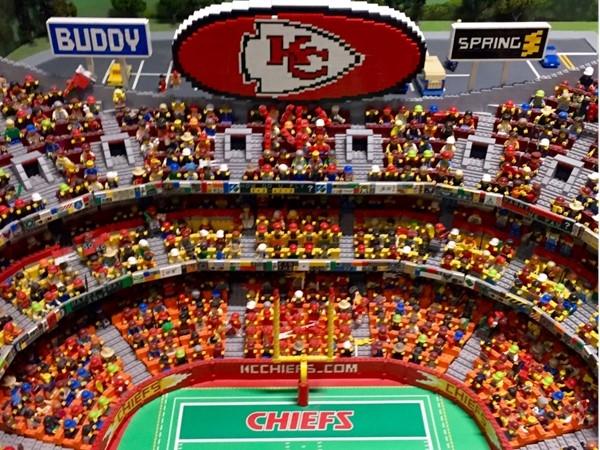 """Lego Arrowhead Stadium, """"Go Chiefs!"""""""