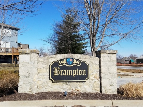 Brampton monument sign on Lone Elm Road