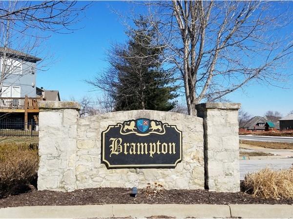 Brampton monument sign on Lone Elm Road