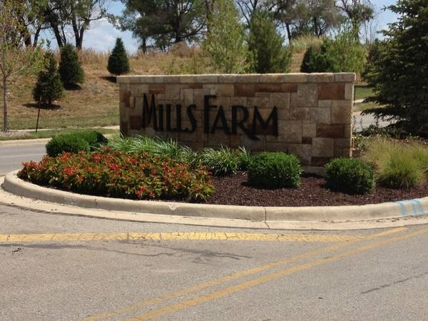 Mills Farm Subdivision Entrance