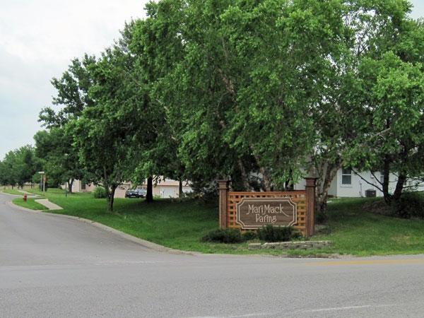 Entrance to Marimack Farms Subdivision