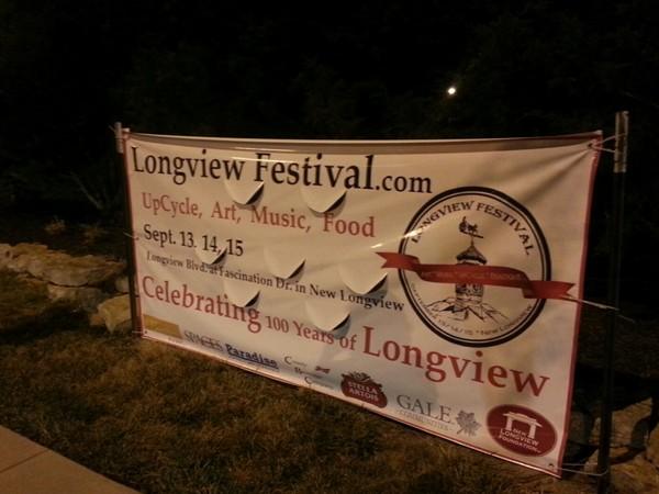 Longview Festival Sign