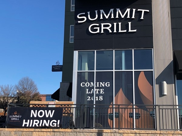 Check out our very own Summit Grill ~ Andy and I cannot wait for a date night when it opens
