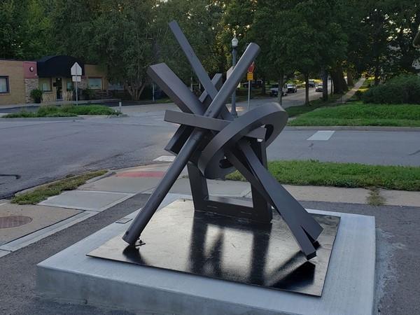"""Liberty Sculpture Program 2019. Titled """"Excelerator"""" by artist Ray Katz of Pontiac, MI"""