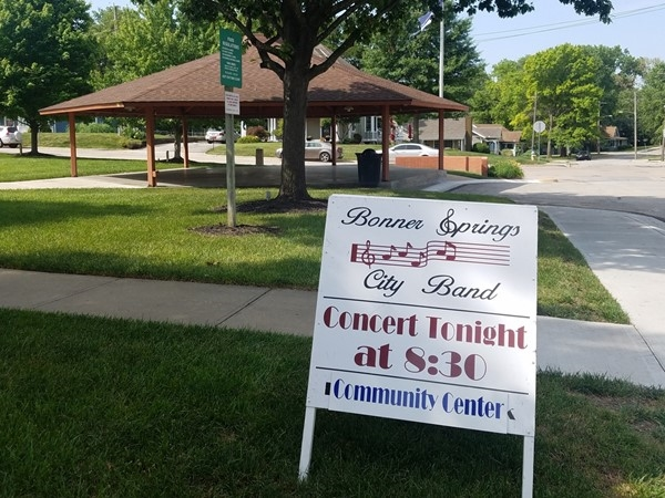 Free band concerts in Bonner Springs. The bands practice at Kelly Murphy Park sometimes