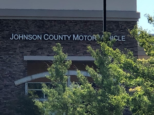 Johnson County Motor Vehicle registration office is nearby