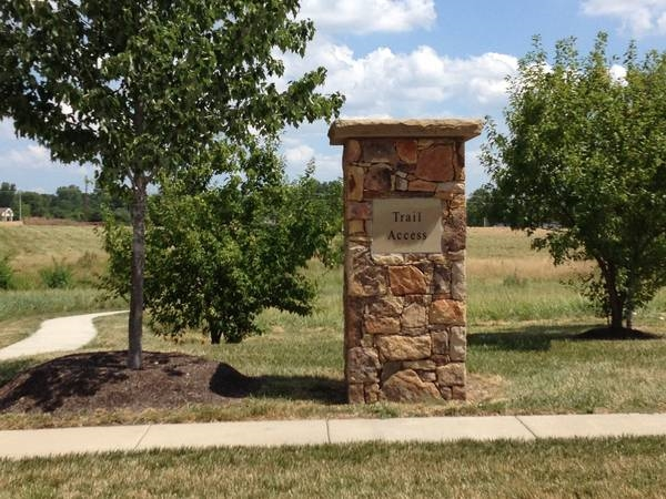 Blue Stem Subdivision Walking Trail Entrance