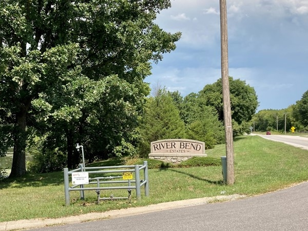 Entrance to River Bend Estates off 33 Hwy and Riverbend Rd