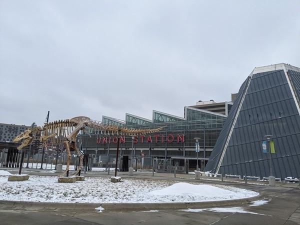 Union Station dinosaur and planetarium