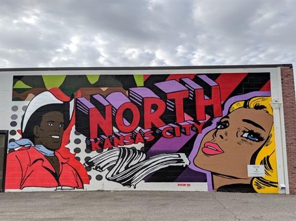 North Kansas City mural on Swift