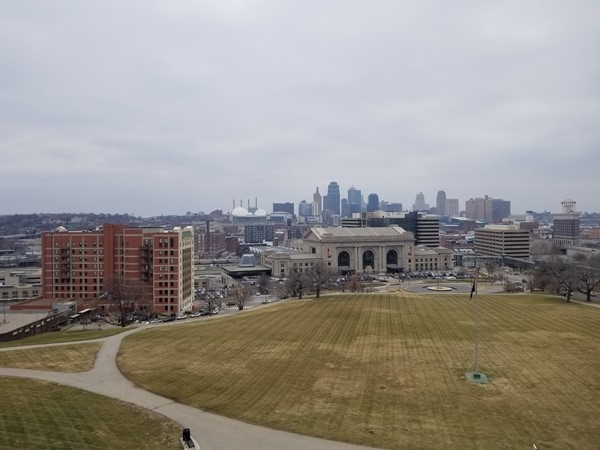 View from the Liberty Memorial of Union Station and Downtown KCMO
