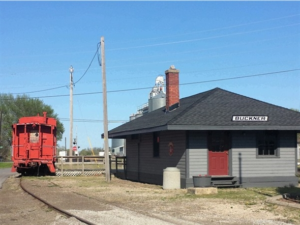 The historic train depot in Buckner