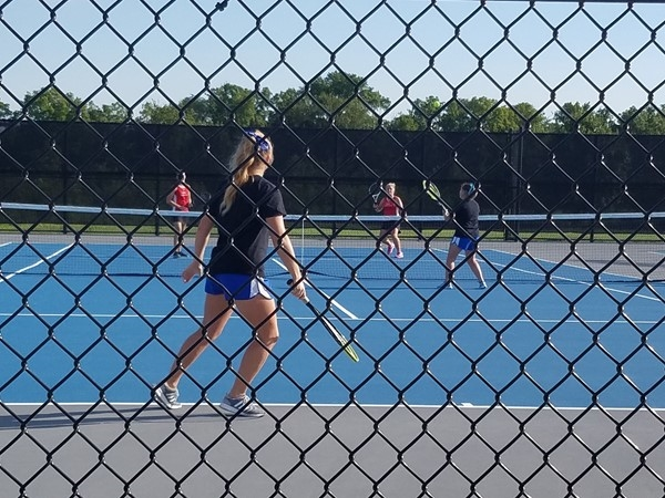 Fall girls tennis is underway! Beautiful day and great new courts
