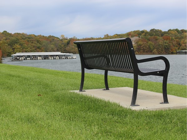 Take a seat - view the fall colors at Riss Lake