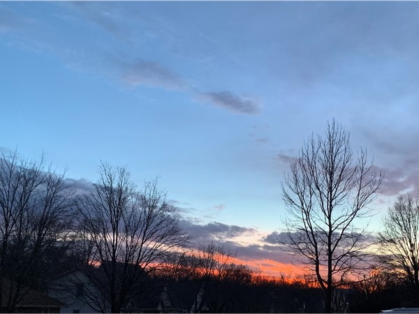 Captured this beautiful sundown in Timber Oaks Subdivision