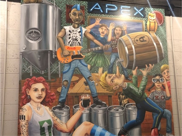 Mural at Apex Aleworks Brewery & Taproom  in Independence, MO