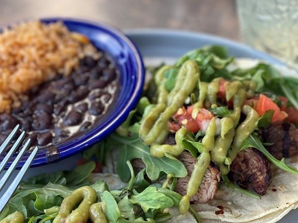 Carne Asada tacos at Zocalo on The Plaza