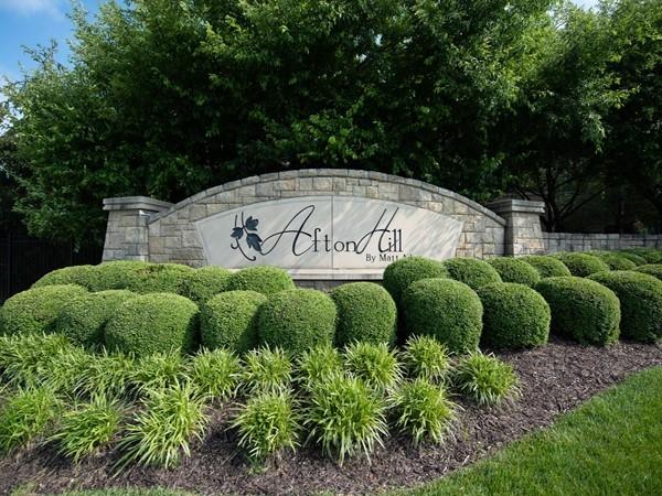 Afton Hill neighborhood in Overland Park - A Matt Adam community