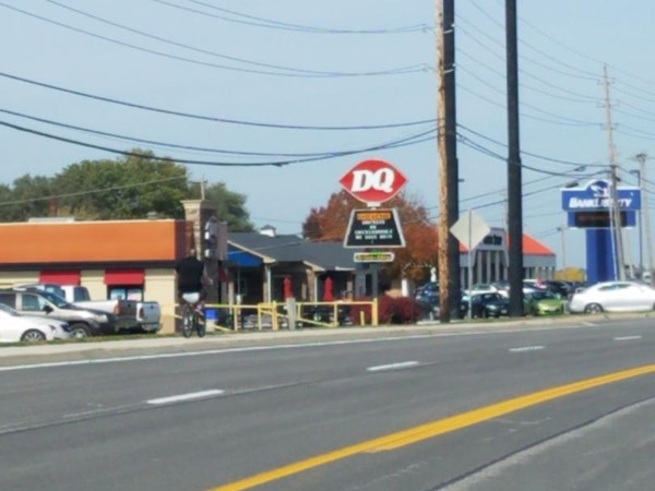 Dairy Queen located next to the high school