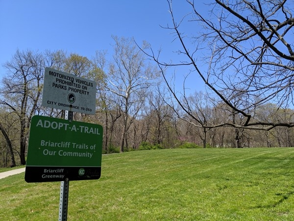 Trails for hiking and biking can be accessed at the Briarcliff Greenway on N Main
