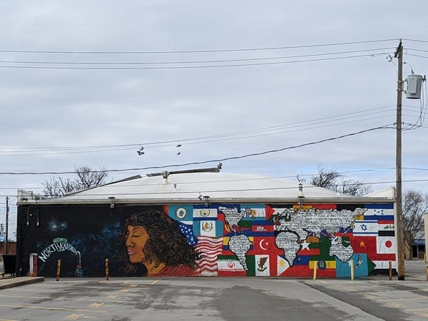 Mural designed by a NKCHS student