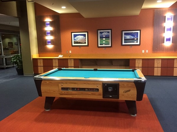 The Tomahawk Ridge Community Center has a pool table, video games and foosball