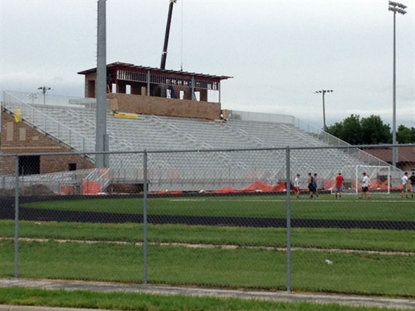 Construction on the Blue Valley High School Football Field