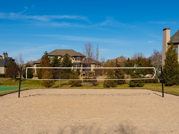 Sand volleyball court in Mills Farm, Overland Park