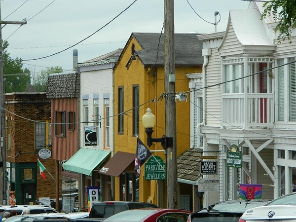 Parkville features quaint shops and restaurants